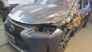 Lexus NX 200.  The side body repair. Ремонт бока кузова.