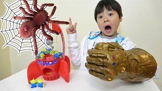 Toy story crane game from Woody Thanos Grove ウッディからトイストーリー クレーンゲーム サノス グローブ おゆうぎ こうくんねみちゃん