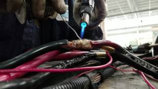 How to connect two pieces of 4awg gauge wire.