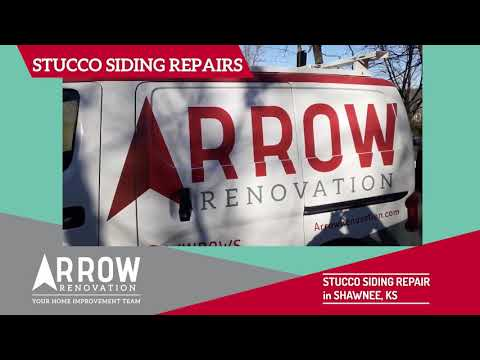 Stucco Siding Repair on a Home in Shawnee, KS