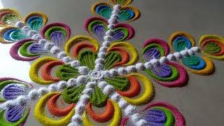 सबसे आसान सुंदर जल्दी बनने वाली रंगोली    Make easy beautiful rangoli design By Bucketful Creation