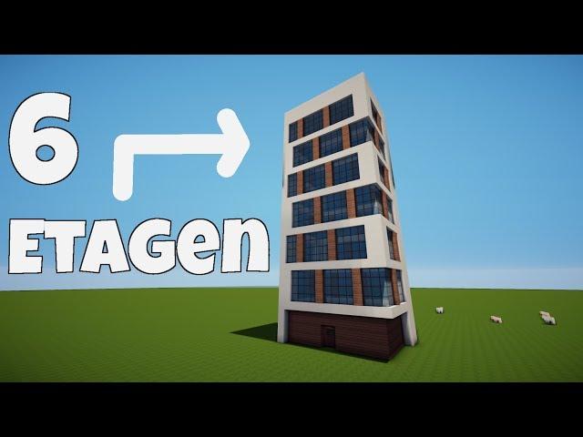 Minecraft Wolkenkratzer Haus Bauen Tutorial Ich Schubse Vitamine Vom - Minecraft modernes haus bauen part 1