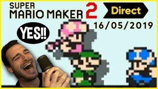 Super Mario Maker 2 Direct (5/15/19) - Live Reactions