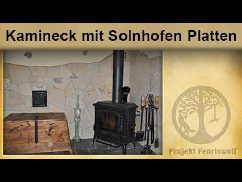 Naturstein Wandverkleidung / Solnhofen Polygonplatten / Steinoptik Wand / Verblender