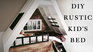 How To Build A Rustic Kids Bed By Build Basic