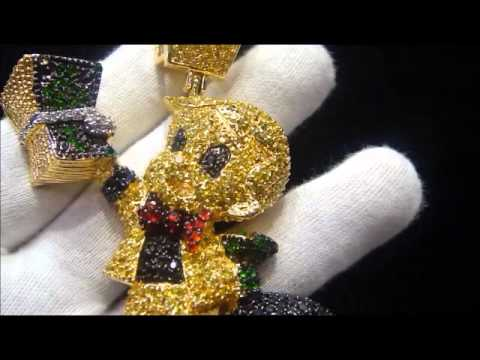 Master Of Bling Lab Simulated Diamond Custom Richie Rich Lemonade Pendant