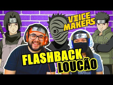 OS FLASHBACKS DA VILA DA FOLHA - REDUBLAGEM DE NARUTO (REACT | VOICE MAKERS)