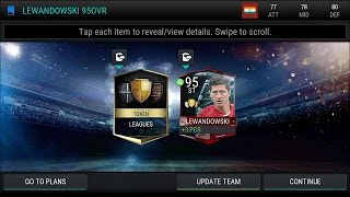 FIFA 17 Mobile | league master 95 Over lewandowski