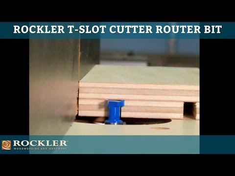 Rockler T Slot Cutter Router Bit 5 8 Dia X 3 16 H X 1 2 Shank