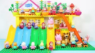 Peppa Pig Building Blocks House Lego Toys For Kids - Lego Duplo House Creations Toys #3