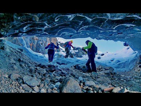 Попасть в сердце ледника - водопад Алибек и Алибекский ледник
