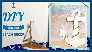 DIY Dollar Tree Beach Decor - Anchor & Boat Decor - Summer, Beach, Nautical Or Coastal Room Decor