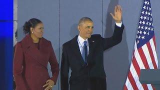Obama bids adieu to Washington