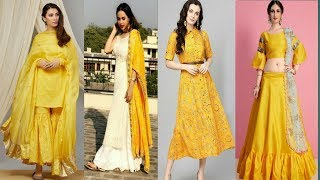 Yellow Colour Dress For Saraswati Puja/Basant Panchmi Ke Liya Indian Outfit/Yellow Dress Lookbook.