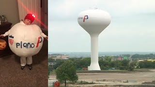 Plano Water Tower Demolition Recreated by Boy for Halloween