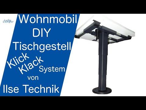 Dritter Schlafplatz   Tisch Liftgestell   Klick Klack System von Ilse Technik   MEGA   Lucky Camper