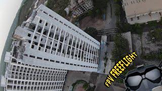 FPV free-roam, Building dive [my first FPV flight]