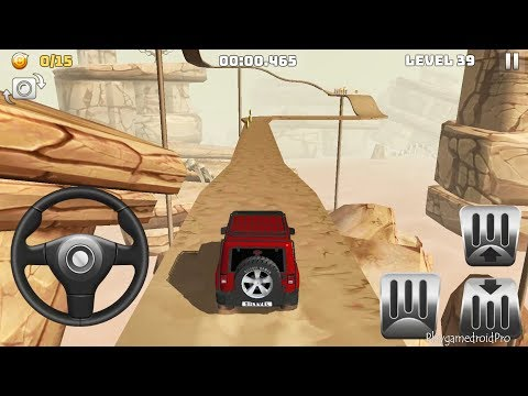 RED WRANGLER CAR! OFFROAD TRUCK DRIVING | Mountain Climb 4x4 Gameplay Level 39 To 45