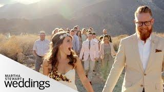 Edyta And Jareds Intimate Desert Real Wedding - Martha Stewart Weddings