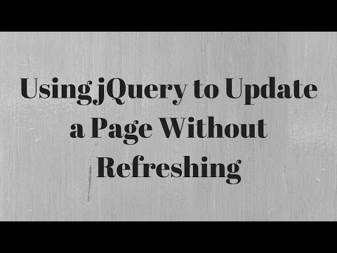 Using jQuery to Update a Page Without Refresh (Part 1 of 2)
