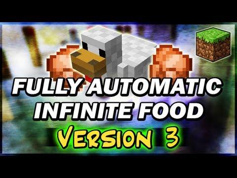 Version 3 Automatic Chicken Farm Cooker Infinite Food Minecraft