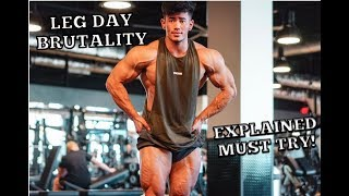 LEG DAY EXPLAINED MUST TRY!    3 WEEKS OUT