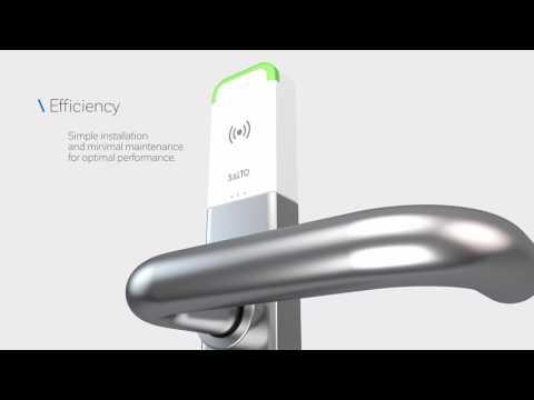 SALTO KS escutcheon battery replacement - смотреть онлайн на