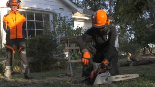 How to use a chainsaw & chainsaw safety tips