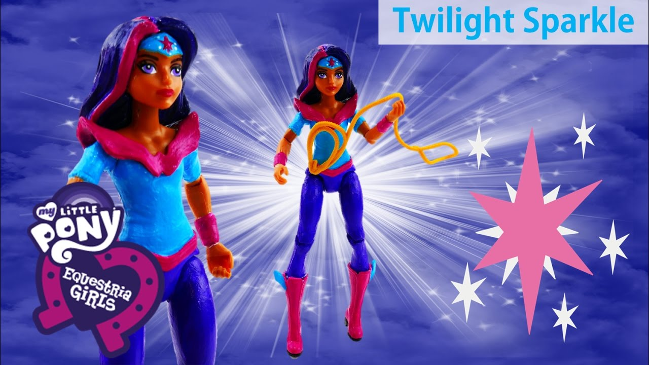 DC Super Hero Girls Wonder Woman Transforms My Little Pony Twilight Sparkle Doll Custom Makeover