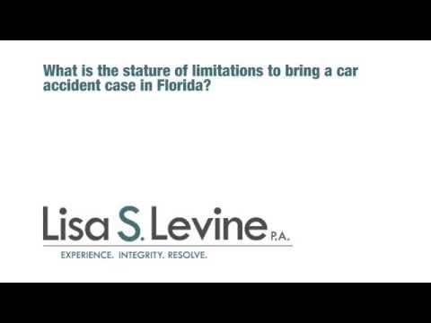 What is the statute of limitations to bring a car accident case in Florida?