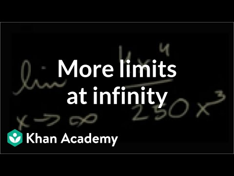 Limits At Infinity Of Quotients Part 2 Video Khan