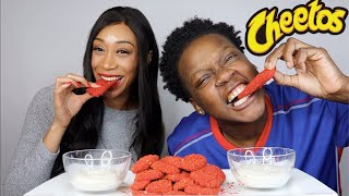 HOT CHEETO FRIED PICKLES WITH TOSHPOINTFRO EATS!!