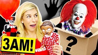 Don't Open A Mystery Valentine's Day Box at 3AM! (Surprise Reaction)