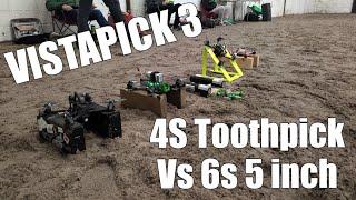Vistapick 3 - 4S Toothpick FPV Racing - DJI Caddx Vista - HaloRC Guitarpick