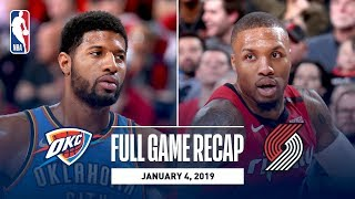Full Game Recap: Thunder vs Trail Blazers | Paul George and Russell Westbrook Combine For 68 Points