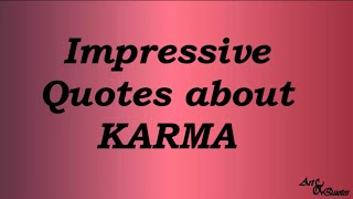 Impressive Quotes About KARMA
