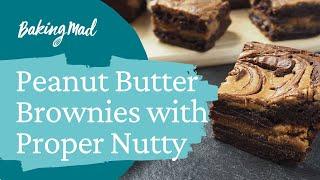 2_peanut butter stuffed brownies