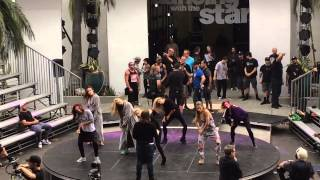 DWTS! PRO FEMALE DANCERS REHEARSE WITH MANDY MOORE-FIFTH HARMONY