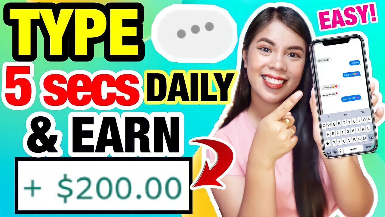 Super EASY: Simply TYPE for 5 secs DAILY, EARN $200! NEW LEGIT EARNING SITE 2021 thumbnail