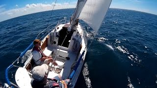 "Sailing ""Thanks Dad"" 26-June-2016 - Sunday sail with mostly 10 knot and an 23 knots gust"