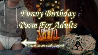 Funny Happy Birthday Poem For Adults