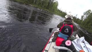 Карелия рыбалка на реке укса