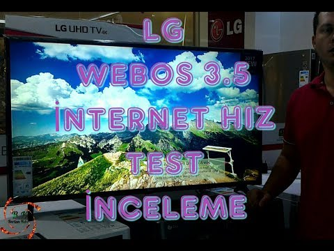 LG 43UJ630V 4K UHD SMART TV WEBOS 3.5 İNTERNET HIZ TEST İNCELEME