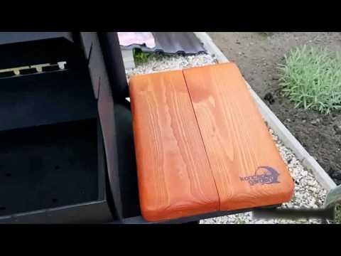Видео Мангал-коптильня с крышей и столешницами МК-8