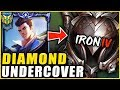 I HIRED A COACH AND PRETENDED TO BE AN IRON 4 JAYCE MAIN THE COACH RAGE QUITS