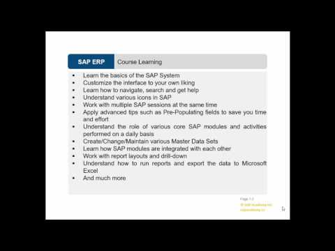 1 Introduction to SAP FICO Super User Training - YouTube