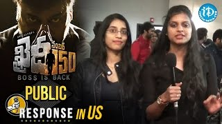 Chiranjeevi Khaidi No 150 Movie Public Response In US   KhaidiNo150  VV Vinayak