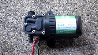 12v DC water pump demo
