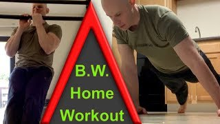 Home Push Up And Pull Up  Calisthenics Workout