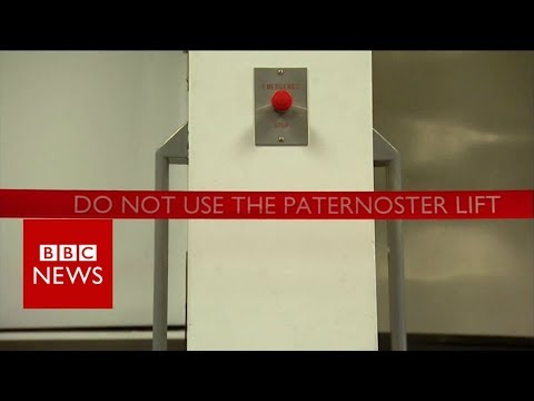 Paternoster: The rare lift that went over the top - BBC News